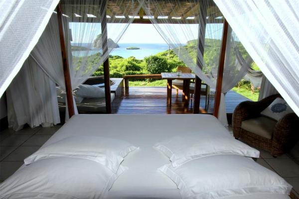 Your bungalow overlooks the ocean at Pousada Maravilha