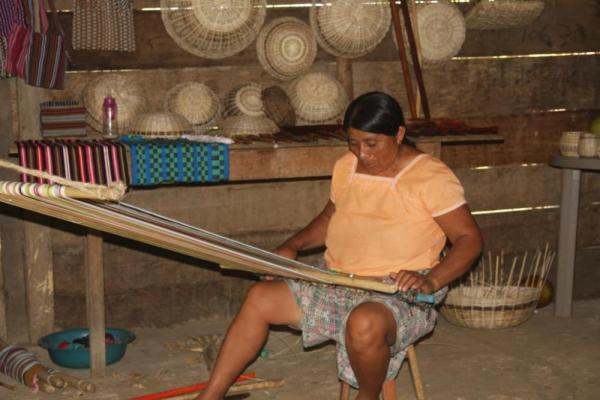 Learn about traditional Mayan weaving at the Lodge at Big Falls