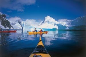 Paddling around icebergs, accompanied by seals, penguins or whales is a surreal Antarctic experience