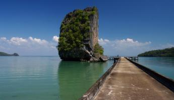 View the famous rock formation of Tarutao Island