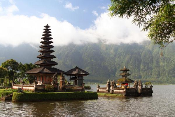 The Ulun Danau Temple in Bali