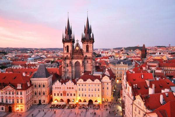 Gorgeous evening view of Prague