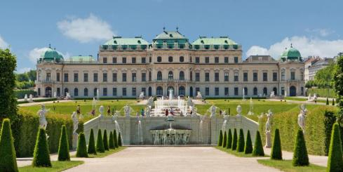 Explore Vienna's beautiful gardens while touring through Europe
