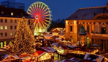 Take a ride on the ferris wheel or take a stroll through the Christmas Market