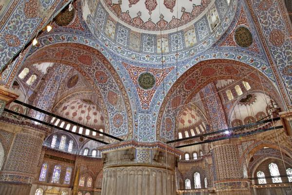 Beautiful interior of a mosque in Eastern Europe