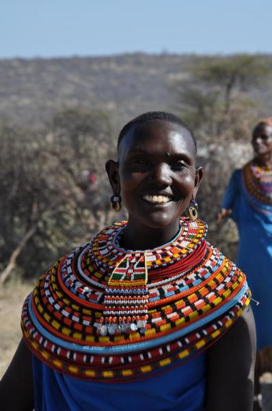 Masai tribe woman smiling