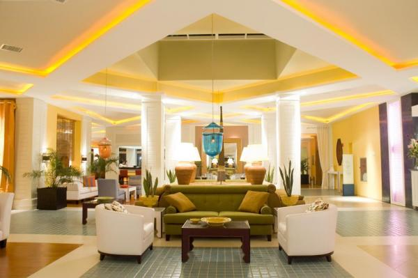 The inviting lobby at Pestana Sao Luis
