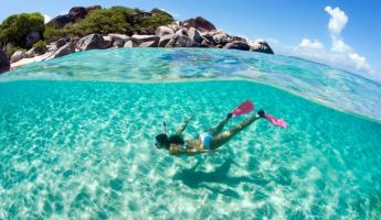 Snorkel the clear, tropical waters