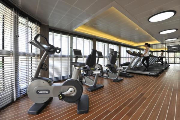 Fitness area with a view.