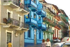 The colorful streets of Panama City