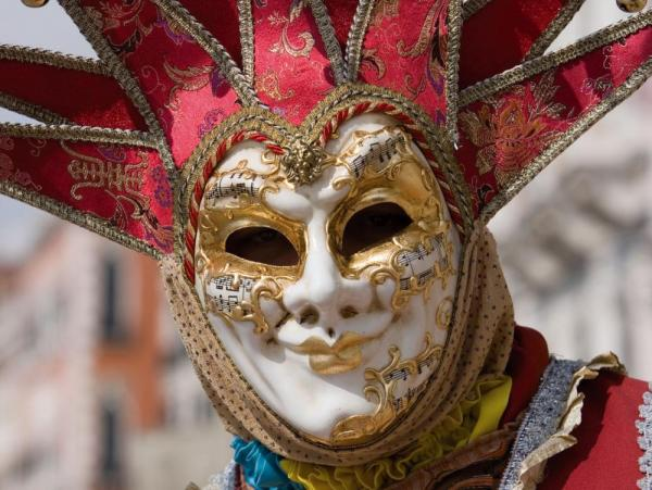 Elaborate masks encountered in Italy