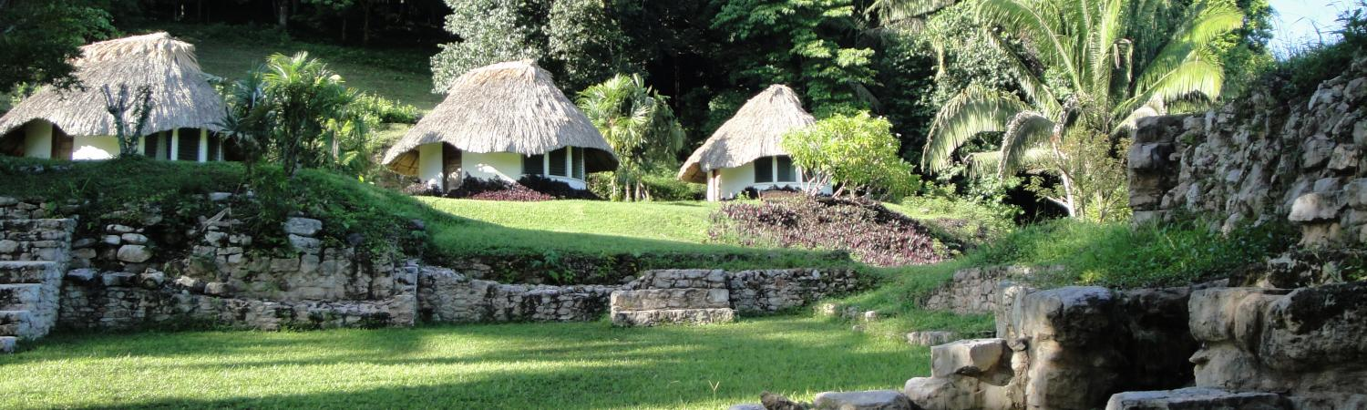 A view of the cabanas at Pook's Hill Lodge