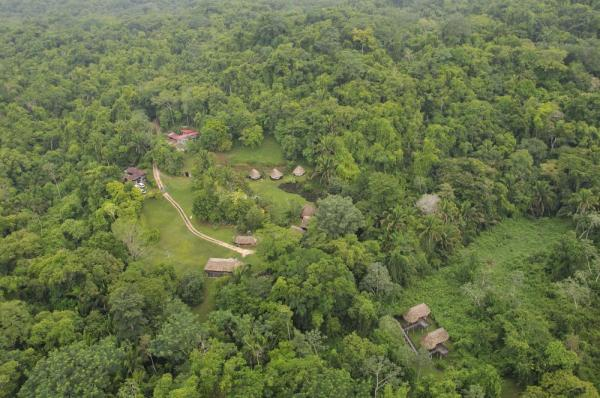 Bird's eye view of the entire Pook's Hill Lodge property