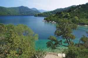 The beautiful island of Mljet in the Adriatic Sea.
