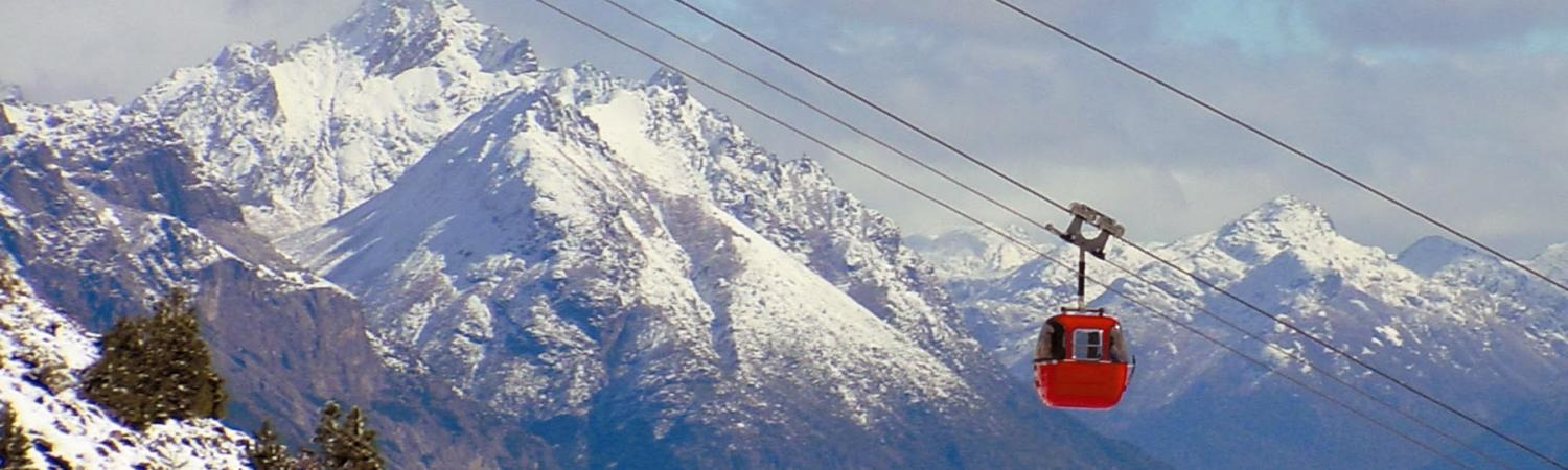Ride the gondola for a spectacular view of the area around Bariloche