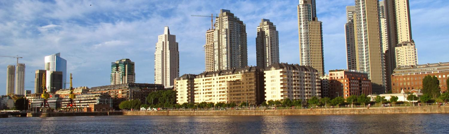 A waterfront view of Buenos Aires
