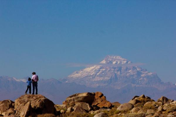 A grand view of Aconcagua from the hills outside Mendoza