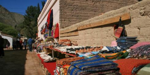 An open air market in Purmamarca, Argentina