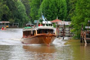 Boats of all shapes and sizes are the preferred mode of travel on the Rio Tigre, Argentina