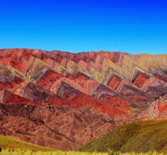Striking landscapes near Jujuy in the Salta Province of Argentina