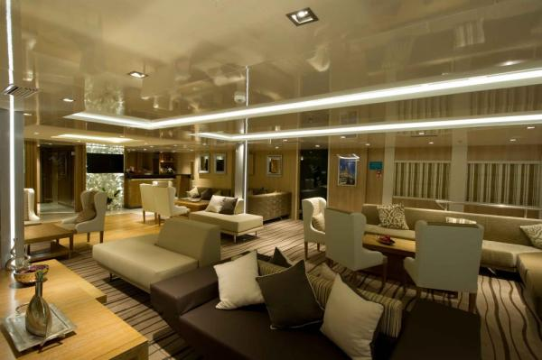 Variety Voyager's lounge and reception area.