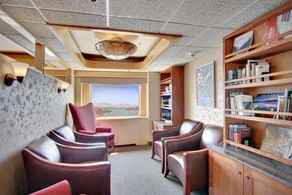Enjoy a book at the Safari Endeavour's library.