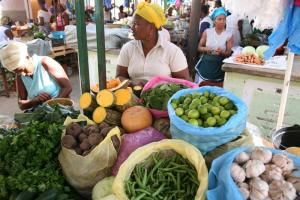 Local market located on the Cape Verde Islands.