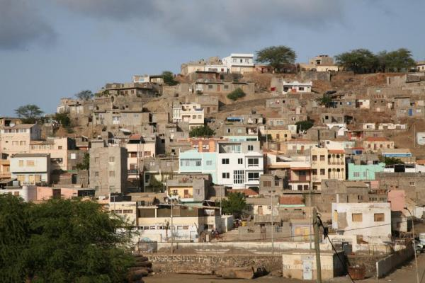 Town on the Cape Verde Islands.