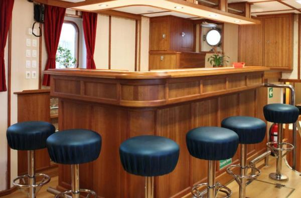 Relax at the bar aboard the Rembrandt van Rijn.