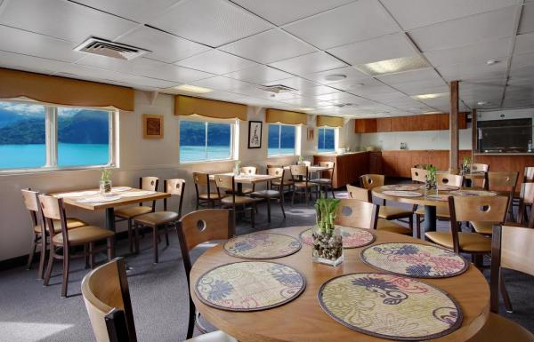 Dining aboard the Wilderness Adventurer.