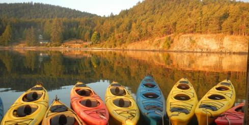Enjoy a kayak trip.