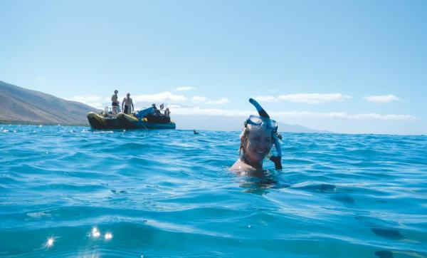 Snorkeling in Hawaii.