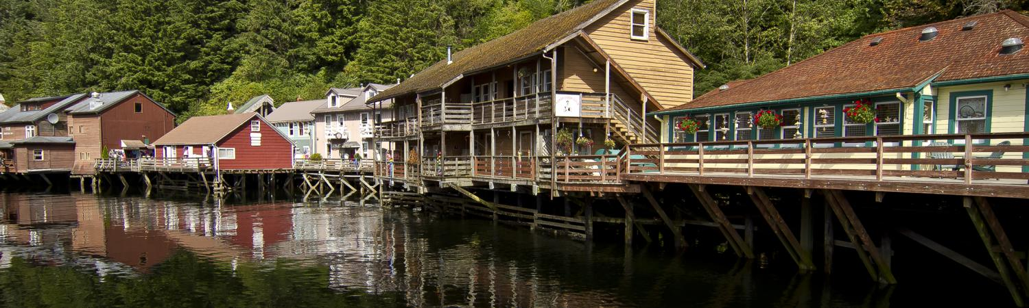 Coastal town of Ketchikan, Alaska.