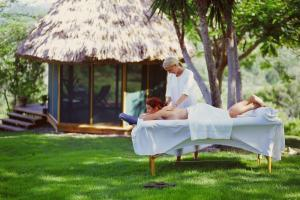 Experience true relaxation in an outdoor massage at the Lodge at Chaa Creek