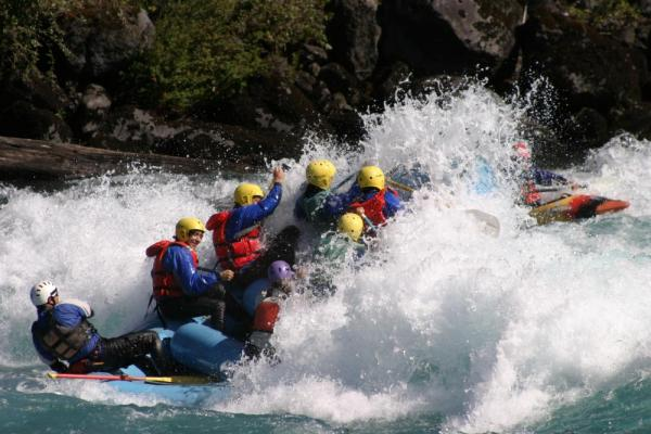 Whitewater rafting on the Rio Petrohue