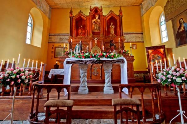 Attend services at the historic chapel on site at La Cienega