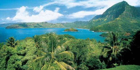 Explore the landscape of French Polynesia.