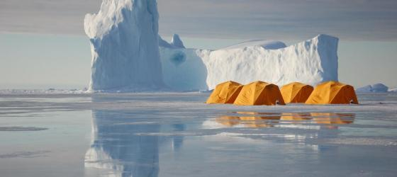 Sleep on the Arctic ice at Arctic Kingdom's Tented Safari Camp