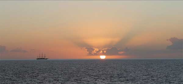 Enjoy spectacular sunsets on your expedition voyage