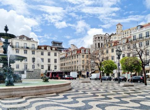 Plaza in Lisbon, Portugal