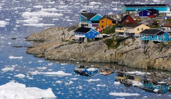 Fishing village in the arctic