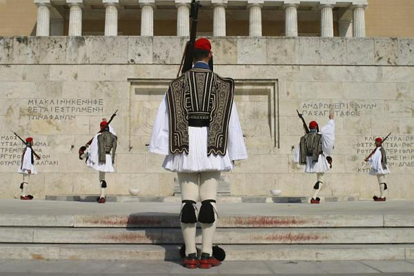 Changing of the guards in Athens