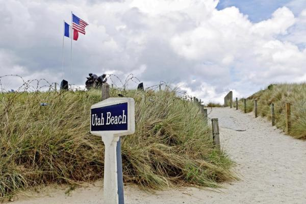 Utah Beach on the Normandy coast