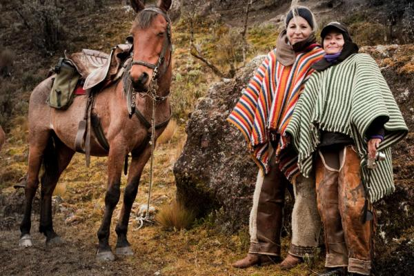 Explore the area surrounding Cotopaxi on horseback while at Hacienda El Tambo