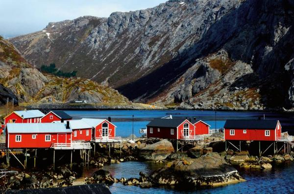 Small fishing village in Norway.