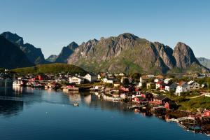 A small fishing village in Norway.
