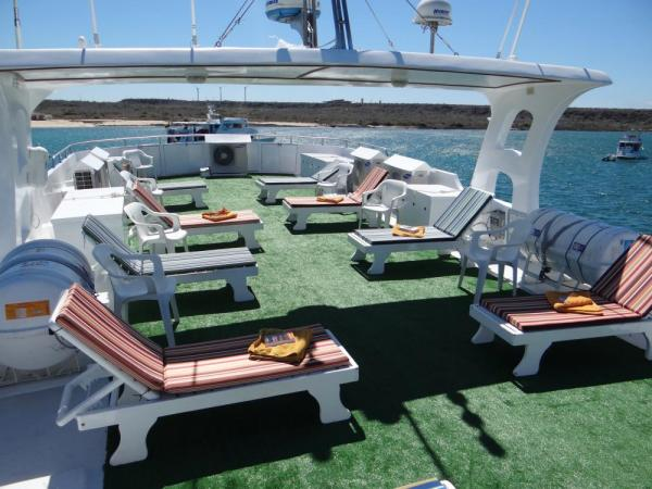 Relax on the sun deck of the Angelito.