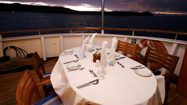 Dine on the deck and watch the beautiful sunset.