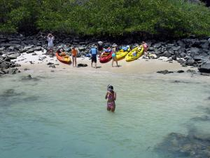 Kayaking and snorkeling in the Galapagos.