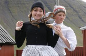Locals of Iceland perform a traditional dance.